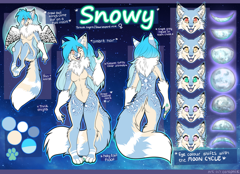ACTUAL OFFICIAL SNOWY REFERENCE SHEET by SnowyCakes