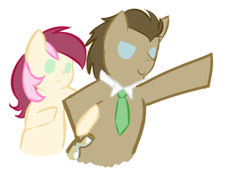 Doctor Whooves and Roseluck! by PersonalGalaxy