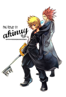 Render Axel and Roxas by akinuy