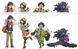 Pokemon XY trainer sprites ( VI ) by Nephae