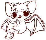:Free Use Bat Lineart: by PrePAWSterous