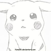 Crying Pikachu Sketch by Yuma76