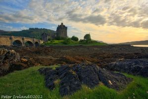 Sundown at Eilean Donan by Pistolpete2007