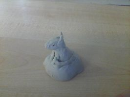 A  Wolf Clay Sculptor by DragonesssArt