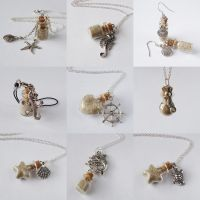 Sand bottle jewelry by FrozenNote
