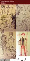 201306 Hannibal Sketch Dump by feyuca