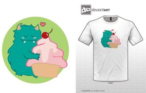 Cute Monsters t-shirt 2 by BitterMuffin