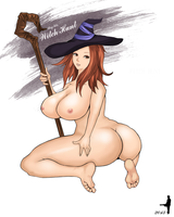 Dragon's Crown the sorceress no clothes by punkwalker