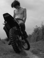 motorcycle boy by nikitash