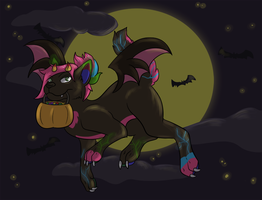 Halloween Fap: Checkerstheponymon by PolychromaticDragon