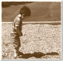 Finding His Shadow sepia by MariaWillhelm