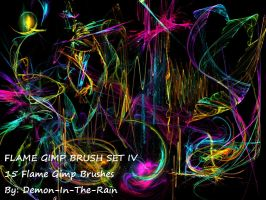 Flame-Glow Gimp Brushes-Set IV by Demon-in-the-rain