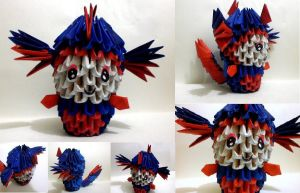 3D Origami Kid in Dragon suit by Rajlakshmi