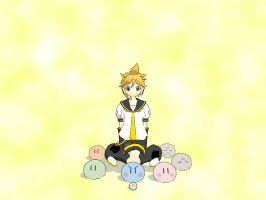 Len with Dango by WishTheJirachi07