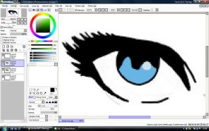 My first drawing done on Paint tool SAI by streetzdanzer