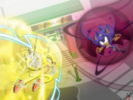 Comm: Sonic vs Sonar - Chaos Clash by BroDogz