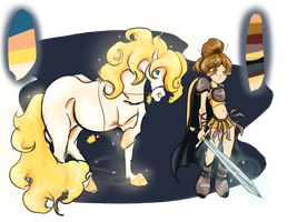 Warrior with Mount 2 .: closed :. by Naeezadopts