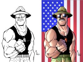 Sgt. slaughter inks and color by Dany-Morales