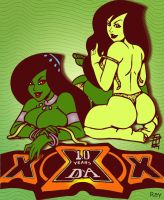 10th D.A.nniversary: Desiree and Shego Colors by CDB2
