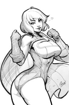 Power Girl Sketch by reiq