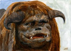 Ludo from Labyrinth Sketch Card by Stungeon