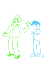 Fry and Danny WIP by Ghostcub