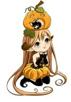 Pumpkingirl by nekoshiei