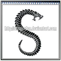 Tattoo Design 026 - Serpent by StriderDen