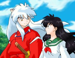 InuYasha and Kagome by DesertViper