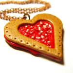 Valentine's Cookie necklace by ColourLab
