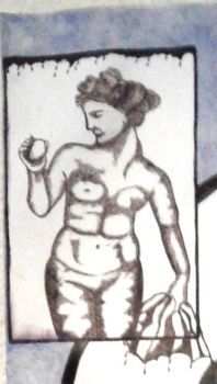 Self Portrait in Phases: Aphrodite with Apple by Her-Kind