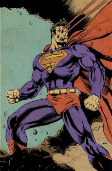 Retro Superman by jamesabels