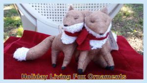 Holiday Living Fox Ornaments! by Vesperwolfy87