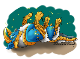 Chibi Monster Hunter- Jinouga by DarkmaneTheWerewolf