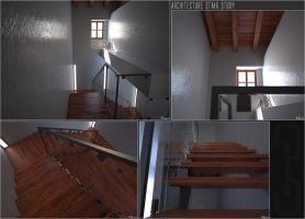 Architecture Stair Study by jurX-CG