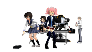 MMD Quickie: Everyone Is Ecchi (R-15) by ChibiAI-kun