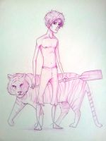 Life Of Pi Lineart by jericilag
