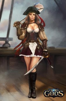 Female pirate avatar by Jackiefelixart