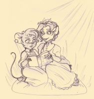 TGMD - Lessons in Reading sketch by Yaraffinity