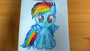 Filly Rainbow Dash Watercolor by Lost-in-Equestria