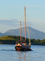 KODIAK SAILBOAT IN MORNING SUN by CorazondeDios