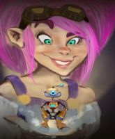 Goblins vs. Gnomes Hearthstone contest entry by SarahMinishCap