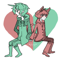 OTP challenge Day 1 Holding hands by madcowCarcass