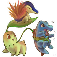 Pokemon Jhoto starters by Haychel