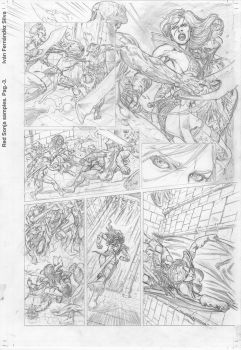 Red Sonja. Pencil pag3. by LordIwain