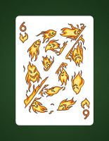 6 Of Hearts aka 6 Of Fire by LineDetail