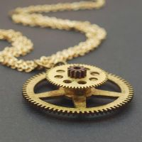 Steampunk Jewelry Multi Chain Brass Necklace by Tanith-Rohe