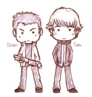 The Winchester brothers by Nerrianah