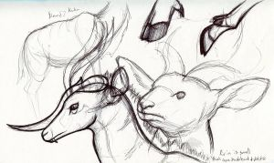 Antelope and Unicorn by Oddstuffs