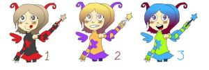 Cute Fairy Adoptables set 2 (OPEN) by FunkyDreamer
